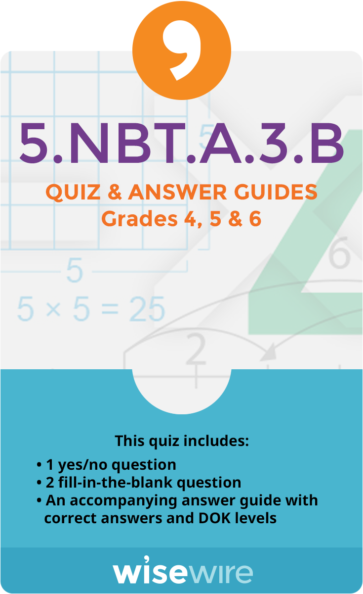 5.NBT.A.3.B - Quiz and Answer Guide