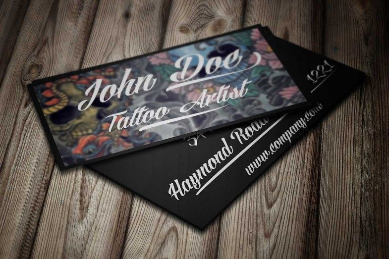 Modern tattoo business card template this design is available for modern tattoo business card template this design is available for free download as adobe photoshop wajeb Images