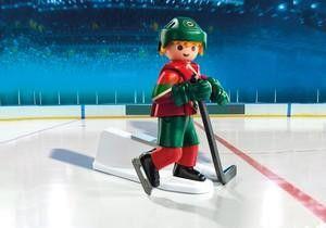 Playmobil Hockey LNH: Joueur du Minnesota Wild - Castello   Jeux et Jouets