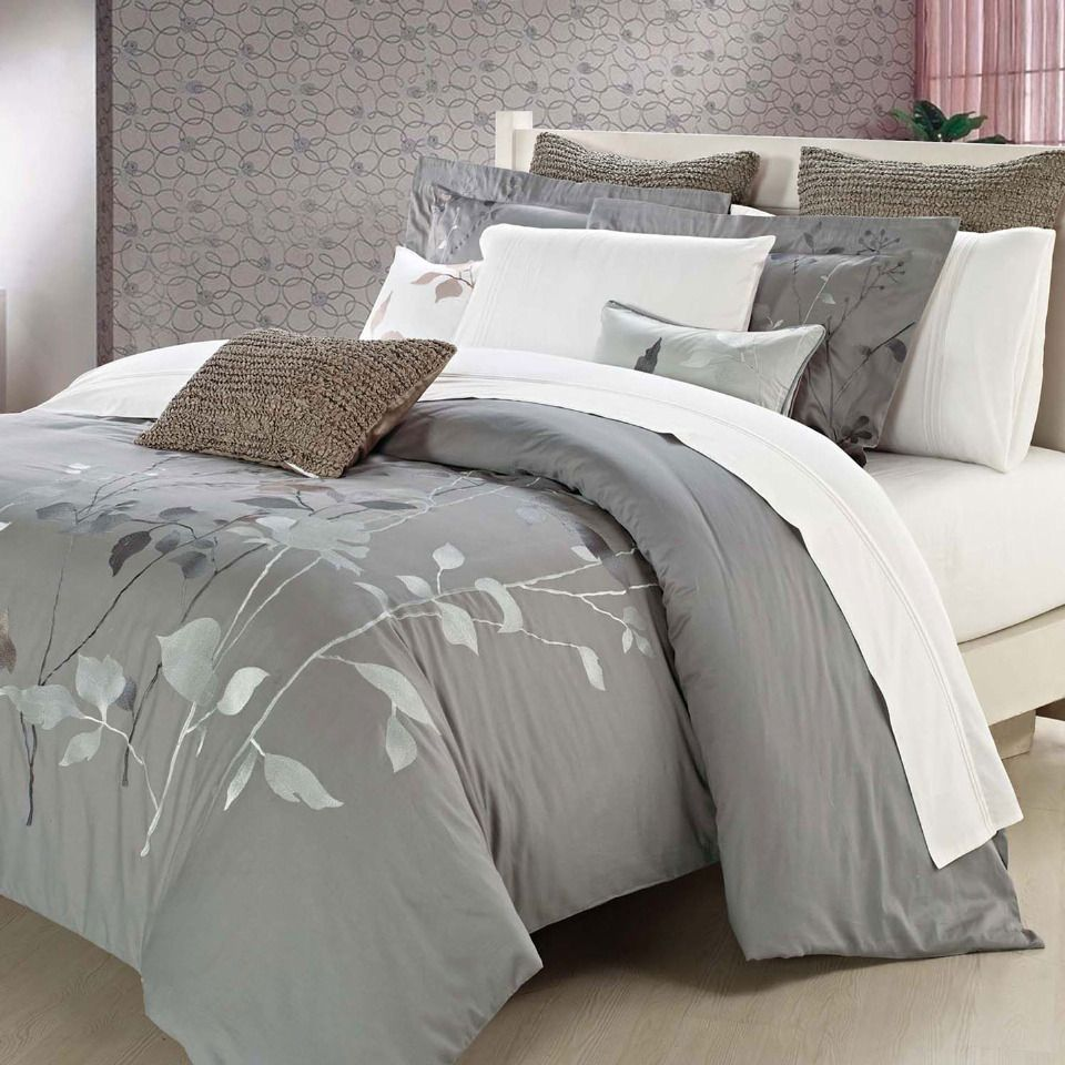Nygard Home Camille Duvet Cover Set in Gray - Beyond the Rack