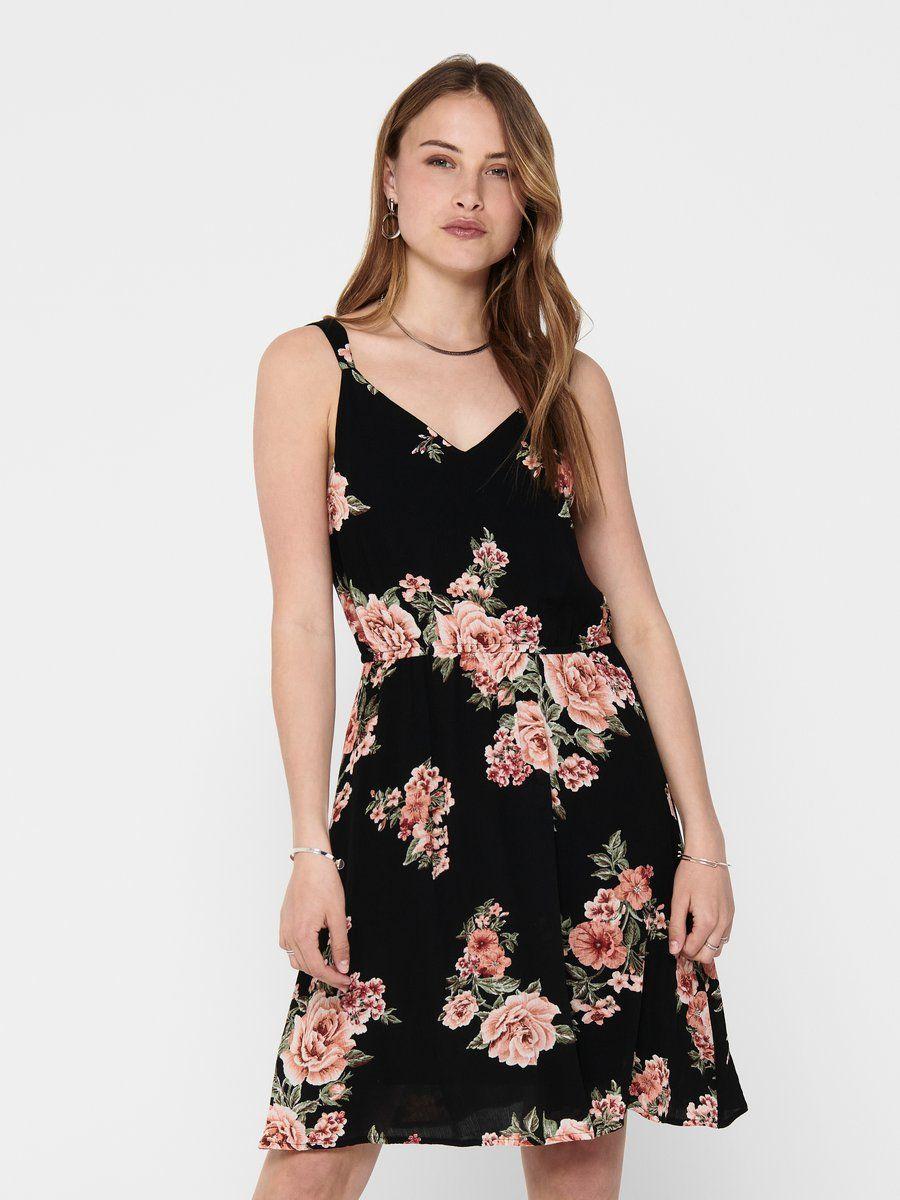 Only Blumenprint Kleid Ohne Armel Armelloses Kleid Kleider Kleider Fur Frauen