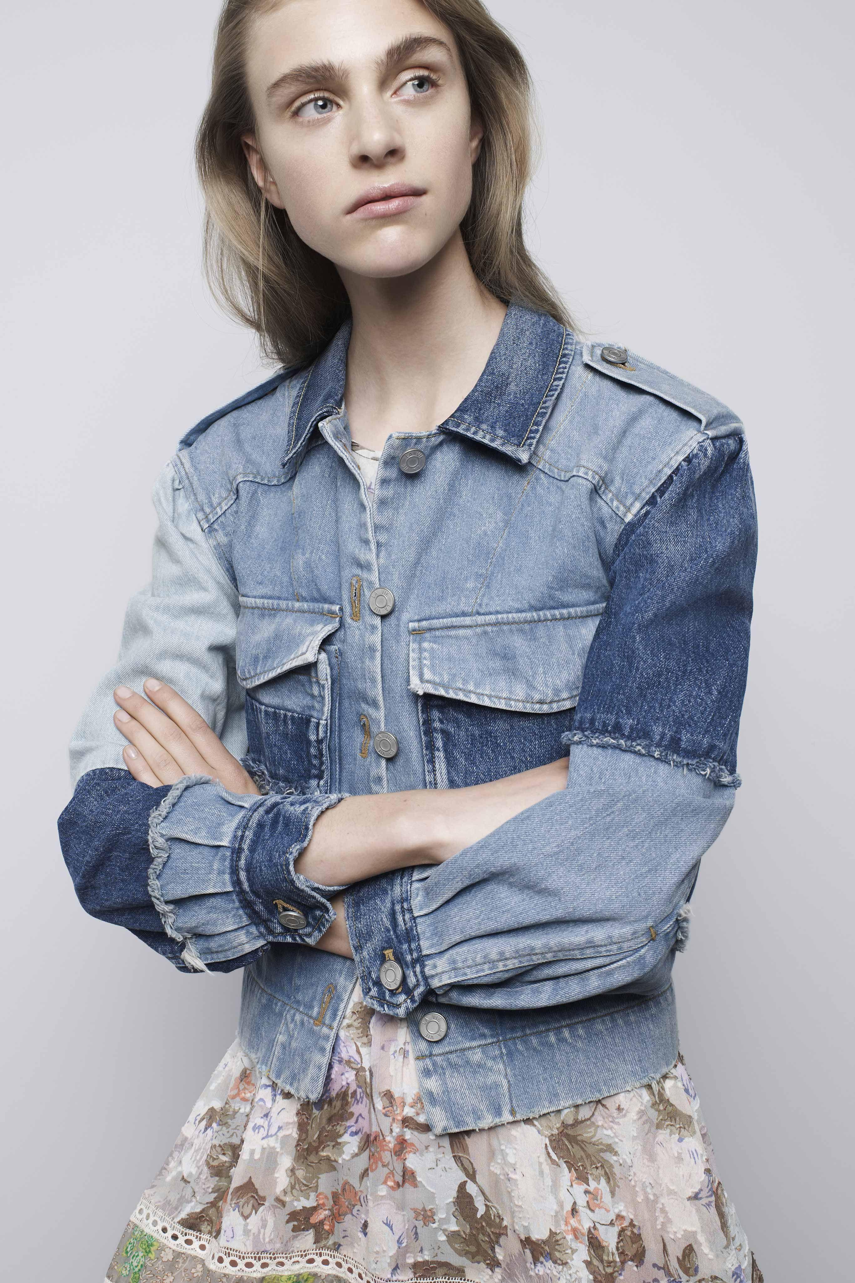 O efeito Mix Jeans, de Rebecca Taylor - Verão 2017/18 #NewYork #NYFW #womenswear…