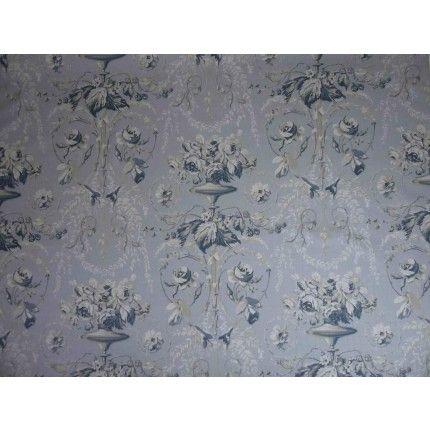 Blue toile linen cotton curtain upholstery fabricImages on screen cannot do the quality of this material justice. To see it fully please order a sample.