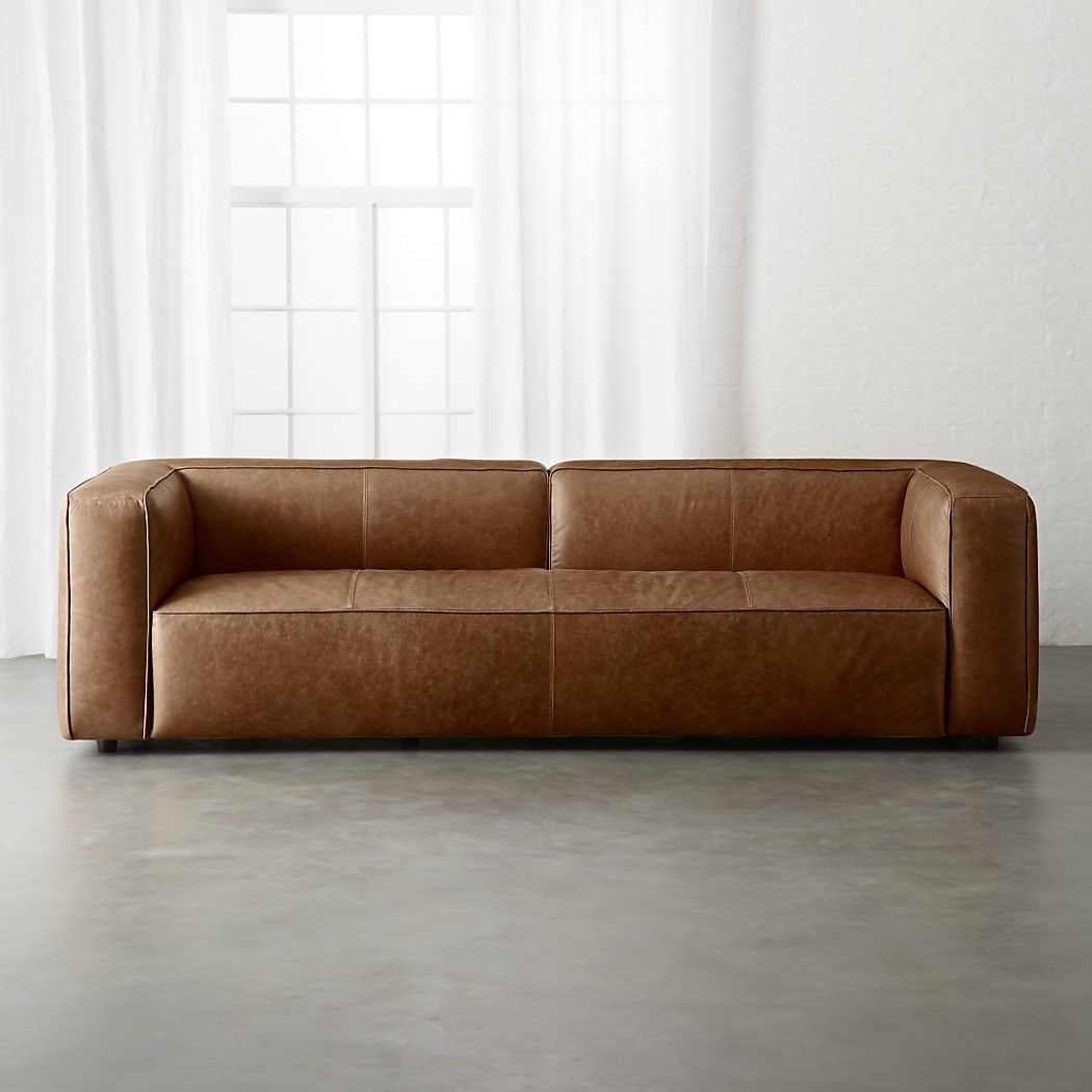 Lenyx Cognac Extra Large Leather Sofa