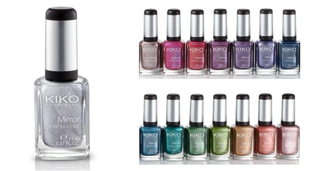 Lacas de uñas de efecto espejo de KIKO Makeup Milano Uñas
