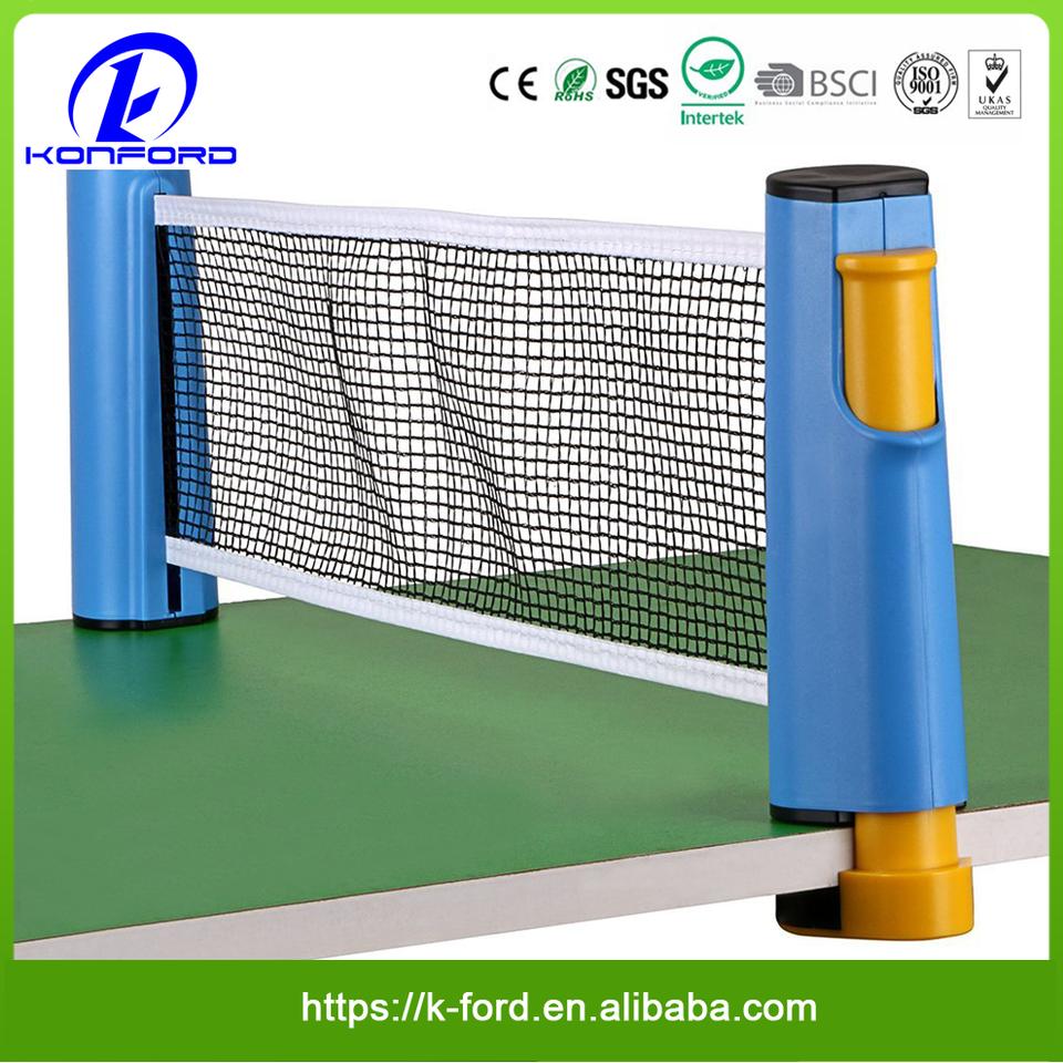 Hipiwe Rétractable Tennis de Table Net de remplacement ping pong net et Post avec p....
