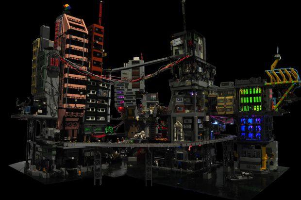 Cyber City A Modular Lego Cyberpunk Diorama Cyberpunk Lego Architecture City