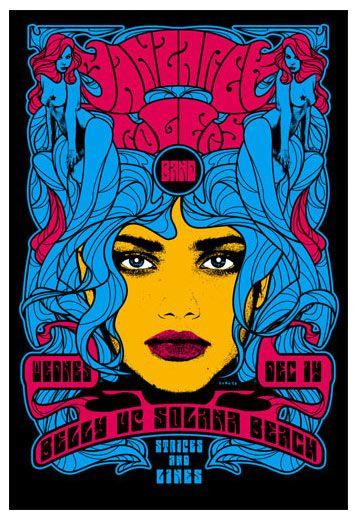 Scrojo Manzarek Rogers Band Poster Psychedelic Poster Band Posters Poster Artwork