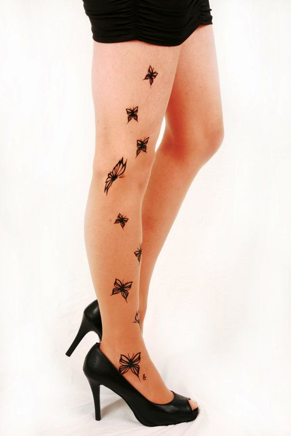 pantyhose tattoo Etsy butterfly
