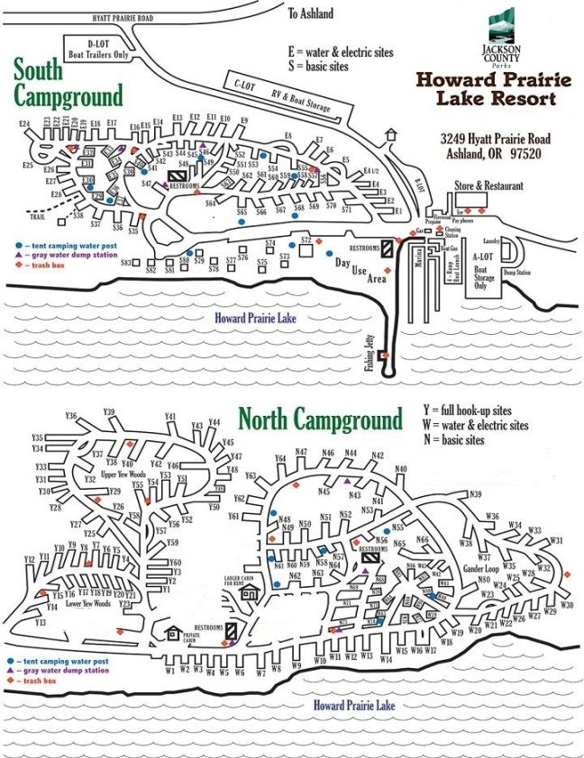 Howard Prairie Resort Map Oregon Southern Oregon