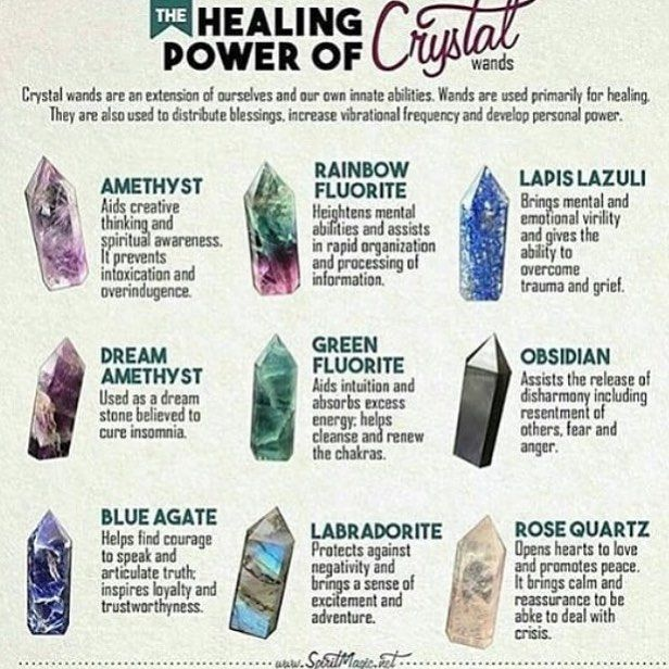 """@maagicaal.witch on Instagram: """"Crystal Wands . . . . #witch #wiccan #wicca  #witchy #witchyvibes #witchvibes #wiccanvibes #witchcraft #magic #magick #spells #spell…"""" #wiccanspells"""