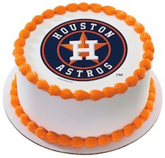 MLB Houston Astros Team Logo EDIBLE Image By CakesPopsCupcakes 795