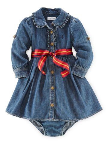 aab8c6851 Denim Shirtdress   Bloomer - Baby Girl Dresses   Skirts ...