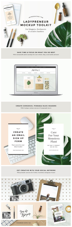 Ladypreneur Mockup Creator Toolkit By Station Seven On Creativemarket Mockup Creator Website Design Mockup