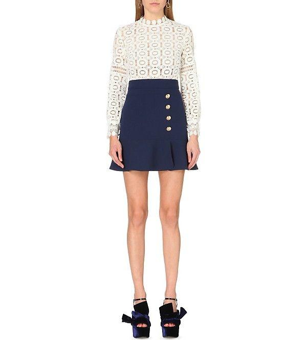 340f5f88f SELF-PORTRAIT - Crochet lace A-line mini dress | Selfridges.com ...