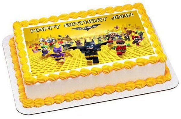 Strange The Lego Batman Movie Edible Birthday Cake Topper Or Cupcake Funny Birthday Cards Online Elaedamsfinfo