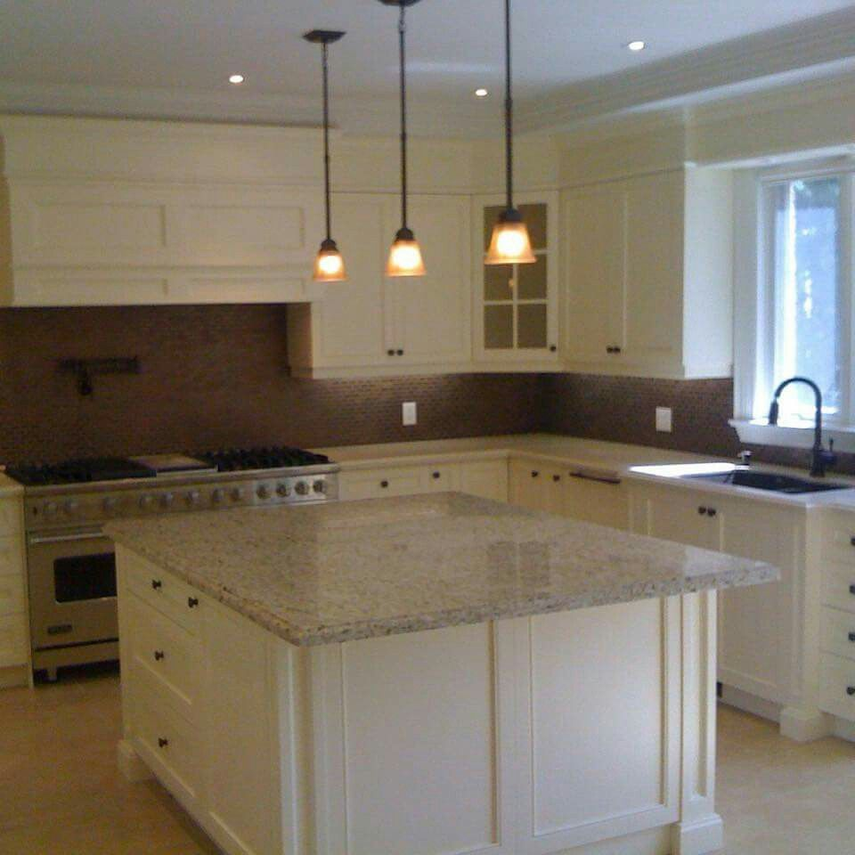 Nice White Kitchen With Pot Filler Interesting Granite Counter