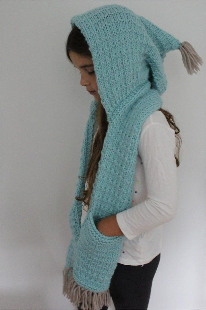 The Indy Hooded Scarf Knitting pattern by Vanessa cayton ...