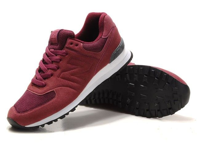 buy online 58e81 2005a New Balance NB MS574ZF Mens Trainers Sonic Wine Red Black