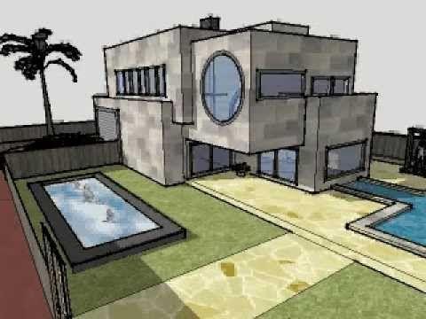Un ejemplo de buen uso del programa SketchUp8, reproduciendo una casa en 3D, realizada por Francisco J.Hidalgo.