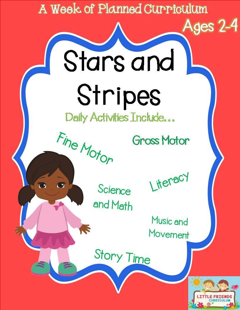 A Week Of 4th Of July Lesson Plans Preschool Curriculum For Ages 2 4 It Includes A P Literacy Activities Preschool Preschool Lesson Plans Preschool Activities [ 1056 x 816 Pixel ]