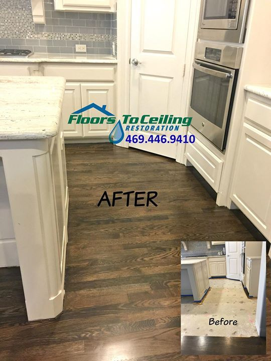 We replaced sections of water-damaged, solid red oak wood floors in ...