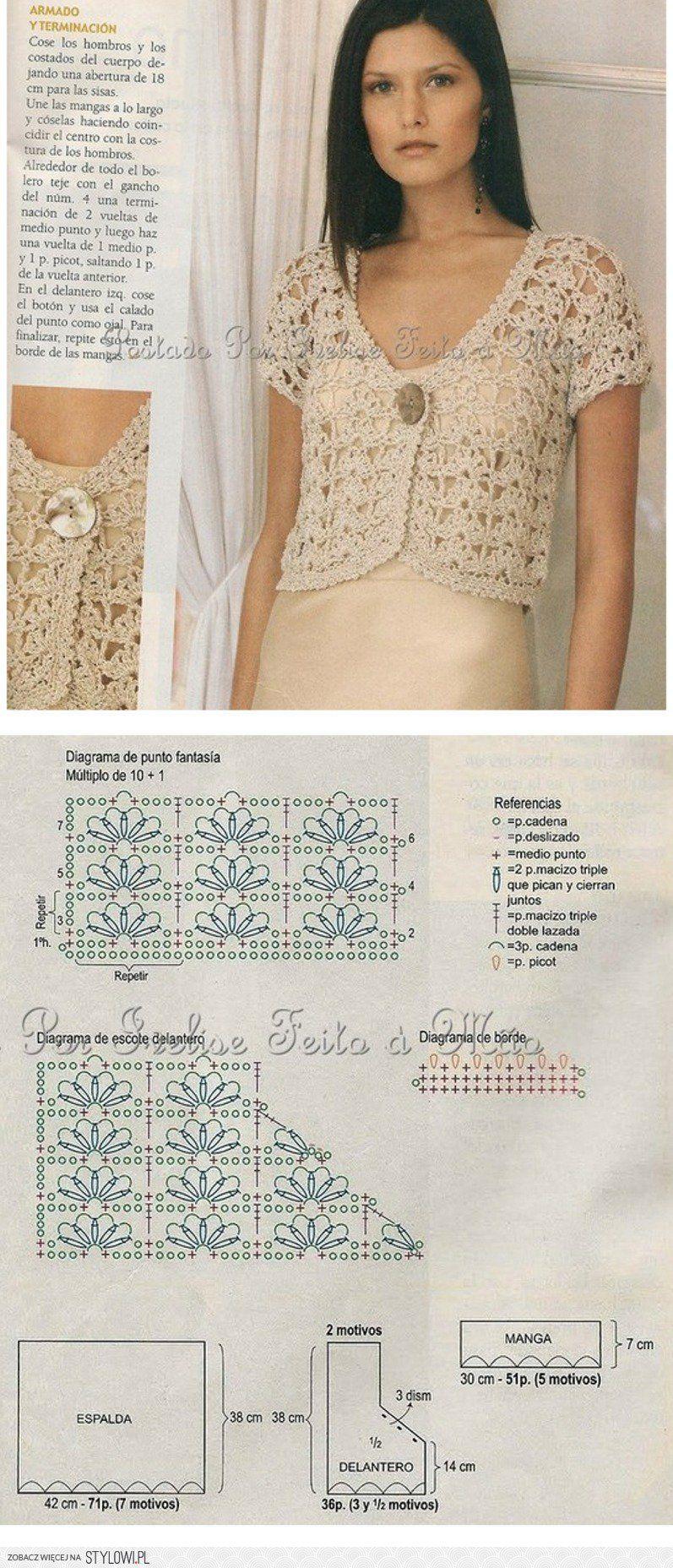 szydełko / bluzeczka / sweterek na Stylowi.pl | hacer | Pinterest ...