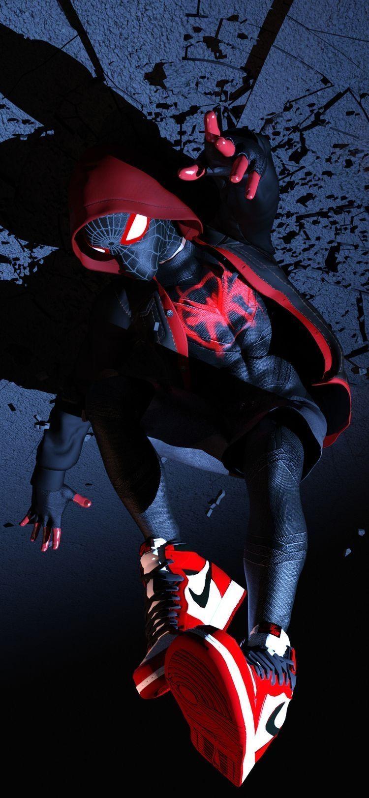 Film Review Spider Man Into The Spider Verse Strange Harbors Marvel Iphone Wallpaper Spiderman Miles Marvel Wallpaper Hd