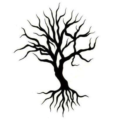 Tree of life tattoo designs black tree tattoo design for Cute tree drawing