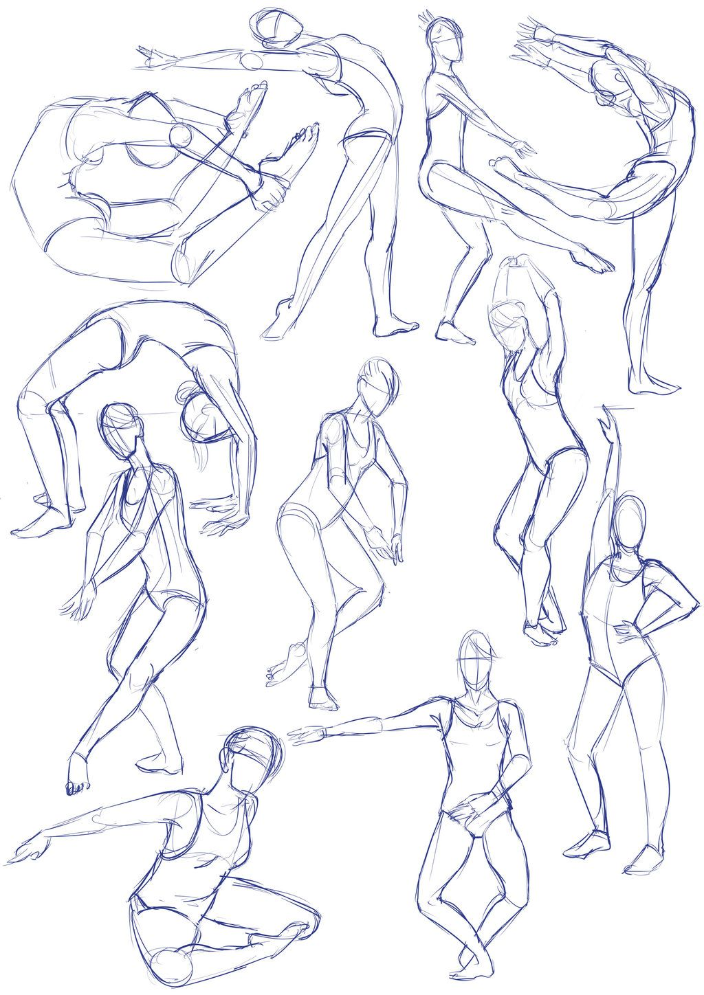 Photo of Balet sketches by SajoPhoe on DeviantArt