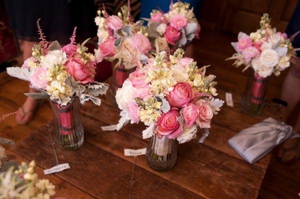 Stunning pink flower arrangements   Blume Photography