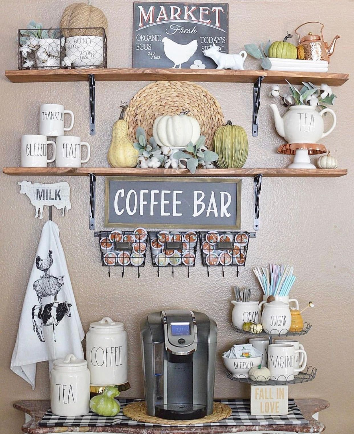 Home Coffee Bar Design Ideas: Bar Ideas #Coffee Station Ideas You Need To See (coffe Bar