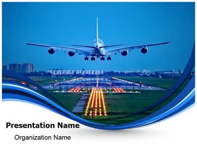 Plane Runway Powerpoint Template Is One Of The Best Powerpoint