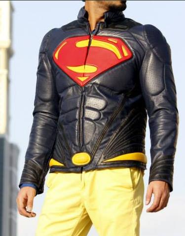 Superman Man of Steel Cow Hide leather Jacket Superman