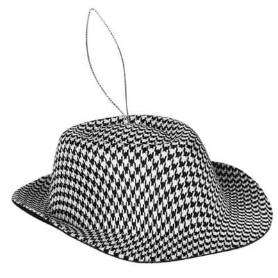 """Houndstooth Hat Christmas Ornament Size: 7"""" Material: EVA ..."""