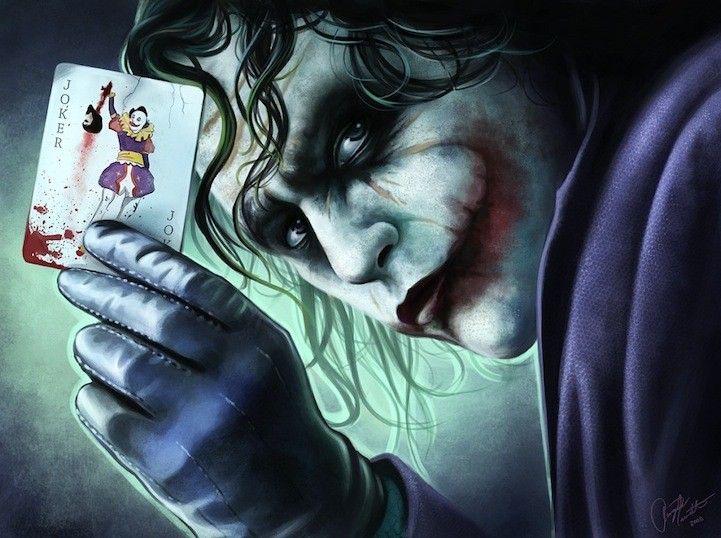 """Рисунок с Джокером из """"Темного рыцаря"""" - Картинки и фото на Avochka.ru"""