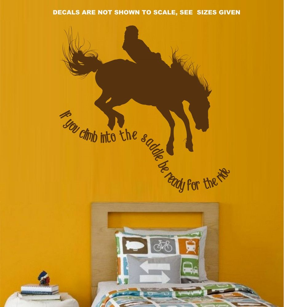 IF YOU GET INTO THE SADDLE BOYS BEDROOM TYPE 8 WALL ART STICKER MED ...