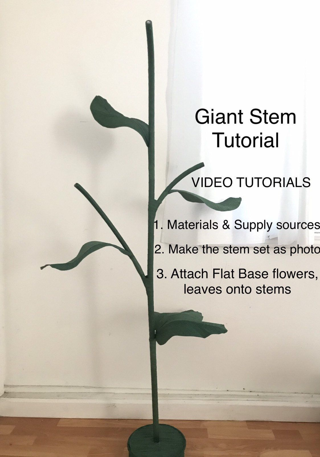 Free Standing Giant Flower Stand Tutorial/ Large Flower Stems Self Standing Flowers/ Giant Flower Stems Big Stems Giant Paper Flowers DIY #bigpaperflowers Free Standing Giant Flower Stand Tutorial/ Large Flower Stems Self Standing Flowers/ Giant Flower Stems Big Stems Giant Paper Flowers DIY by MaiPaperFlowers on Etsy #bigpaperflowers