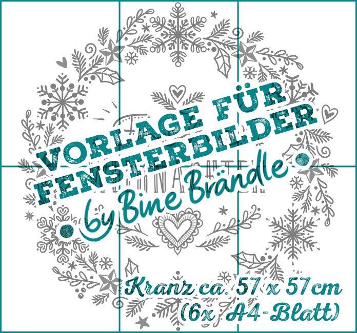 vorlage download winterkranz  weihnachtskranz