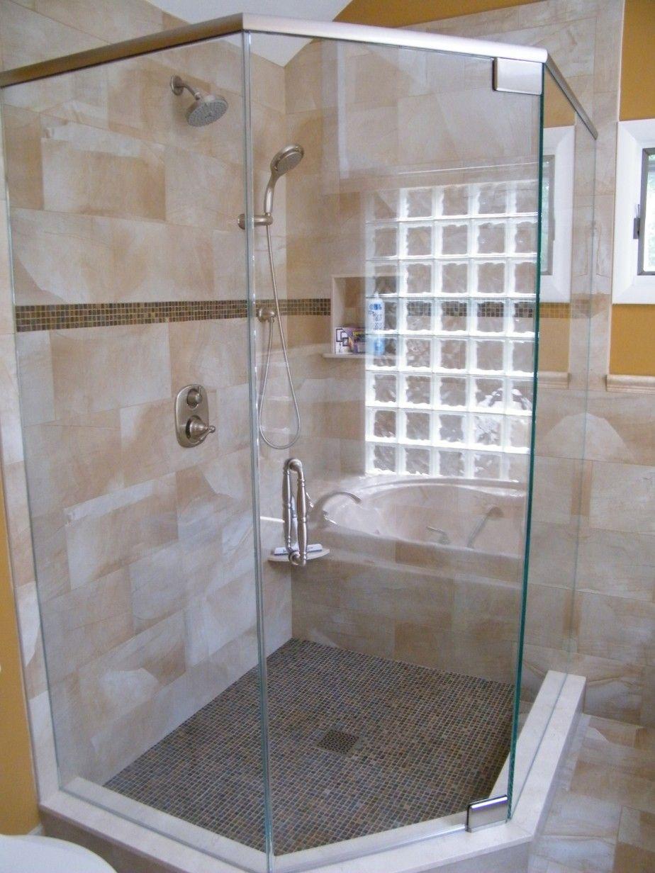 semi frameless shower glass | Semi Frameless Corner Shower Doors ...