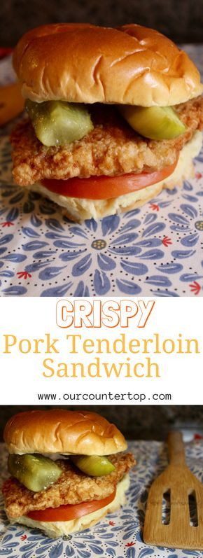 Indiana Style Pork Tenderloin Sandwich #porktenderloinrecipes