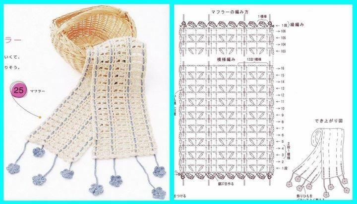 Sciarpe Uncinetto Spiegazioni Cerca Con Google Crochet Da Indossare