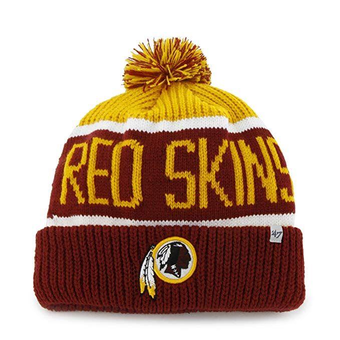 1d89cb9190df42 NFL Washington Redskins Cuffed Knit Hat With Pom Pom by '47 Brand, $34.99