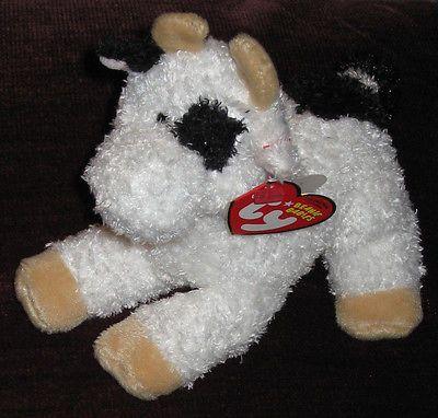 New Retired Ty Beanie Baby Barnyard CORNSTALK the Cow MWT Free Shipping ! 77556f54746b