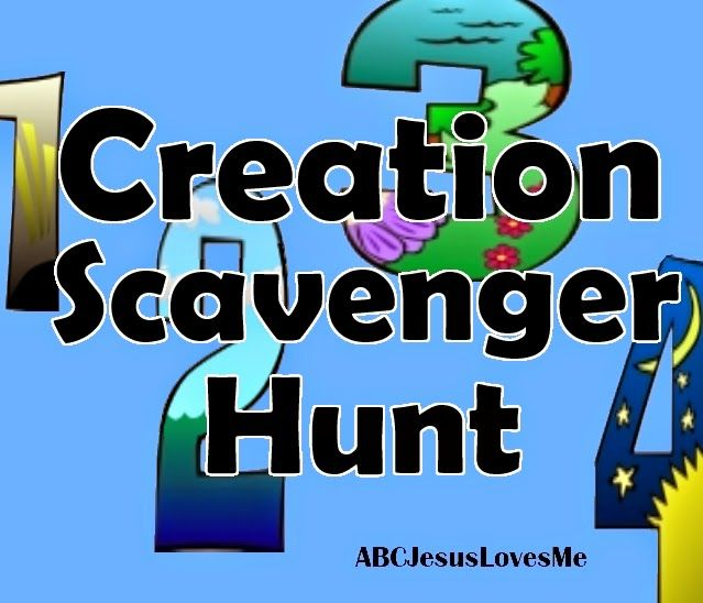 Creation scavenger hung pinteres for Creation crafts for sunday school