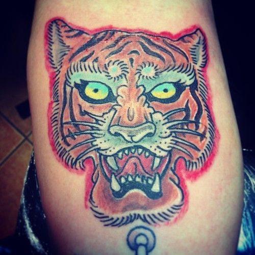 Photo of Finish Tiger italian old school by toniatutattoo #tattoo #tattos #toniatutattoos…