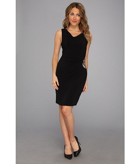 Calvin Klein Calvin Klein  Sleeveless Cowl Neck Dress CD3B1TFH Black Womens Dress for 55.99 at Im in!