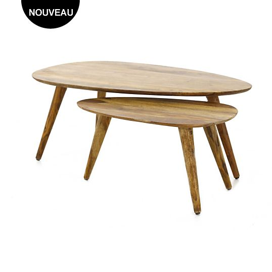 Table basse Camif, achat Table basse gigogne Rétro ZAGO Camif prix ...