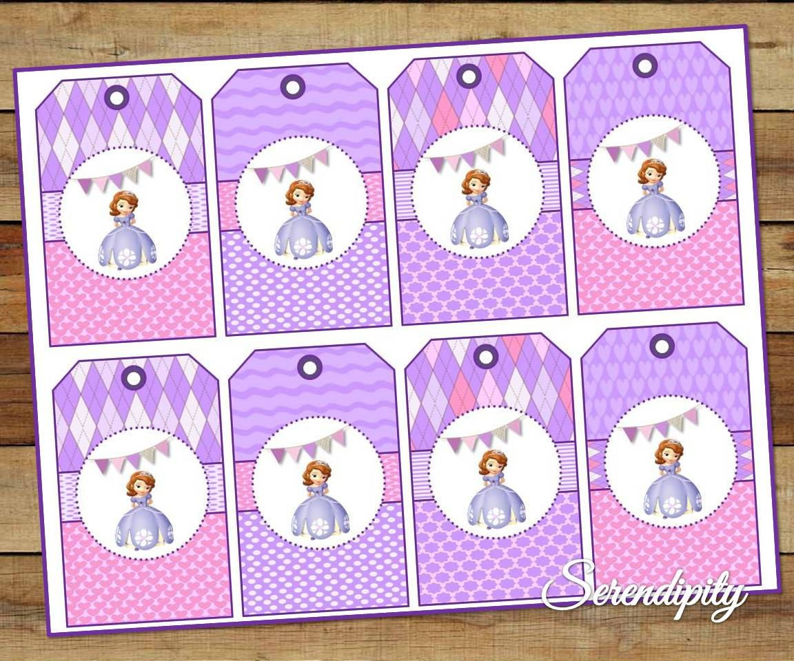 INSTANT DOWNLOAD Princess Sofia Tags, perfect for favors and gifts ...