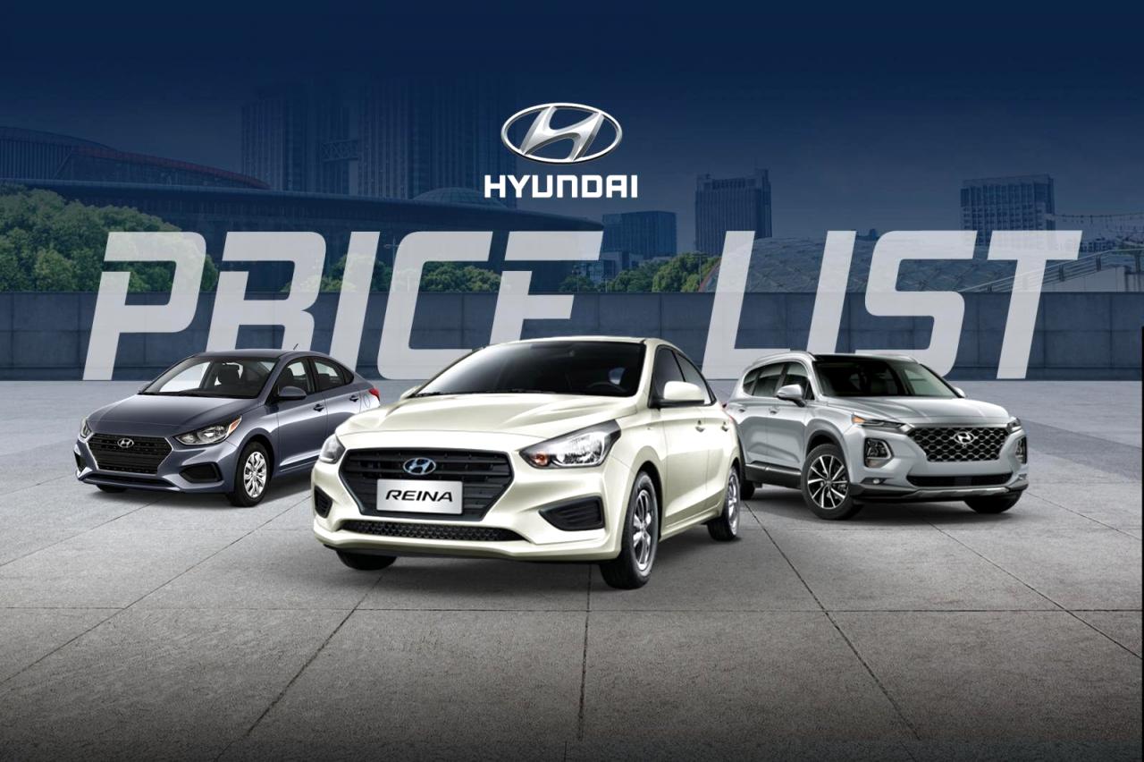 Hyundai Philippines Price List 2021 Photos In 2021 Hyundai New Hyundai Philippines